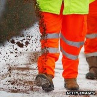 Road gritting