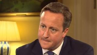 David Cameron in Downing Street