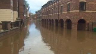 Flooding in York