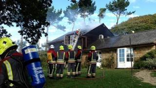 House fire in Port Navas