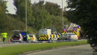 Two vehicles were involved in the accident on the A1 road.