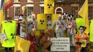 Protesters against nuclear power in Bridgwater