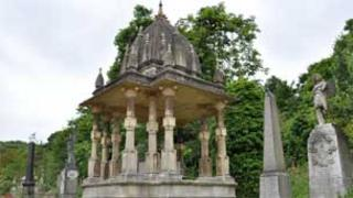 Tomb of Indian reformer Raja Rammohun Roy at Arnos Vale Cemetery