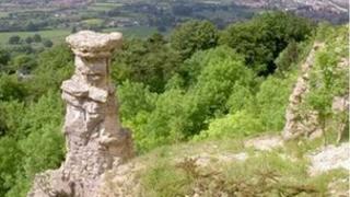The Devil's Chimney on Leckhampton Hill