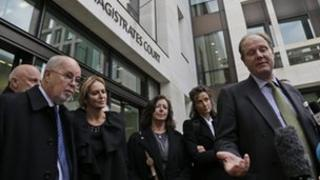Julian Assange's backers outside Westminster Magistrates Court