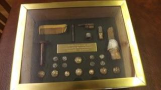 Presentation box with Pte Curtis' possessions