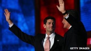 Paul Ryan and Mitt Romney in Tampa