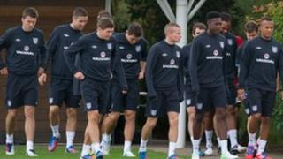 England squad at a training session
