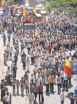 Protest in Karnataka over the river sharing dispute