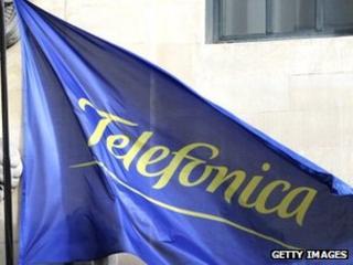 Flag at Telefonica headquarters, Madrid