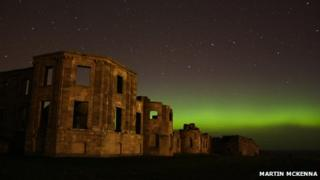 Aurora over Downhill Demesne and Hezlett House