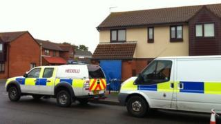 Crime scene in Nottage, Porthcawl