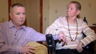 Richard Burnside with his wife Susan
