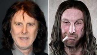 David Threlfall in person (left) and as Frank Gallagher (right)