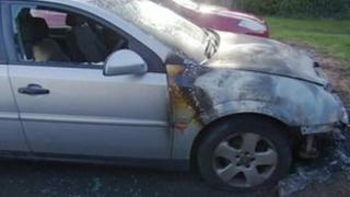 Car attacked by arsonists in Telford