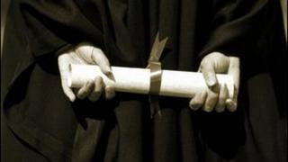 Generic student holding degree