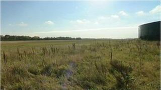 The land at Fareham where the solar farm was due to be built