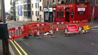 Albert Street closed