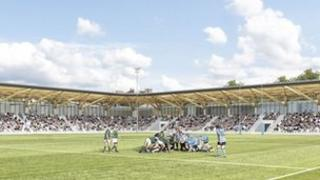 Artist's impression of new plans for The Edinburgh Academicals ground in Stockbridge