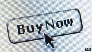 Buy now symbol on a website
