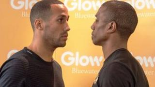 James DeGale and Hadillah Mohoumadi