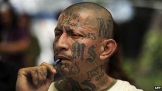 Carlos Tiberio Valladares, or Sniper, jailed leader of the MS-13 gang