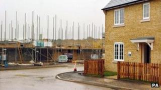 A house under construction