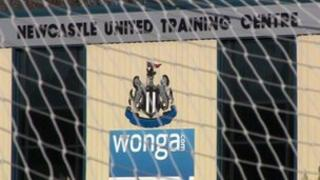 Wonga sign at Newcastle United training ground