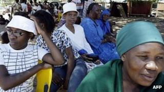 Women pictured in Gaborone, Botswana, in 2004