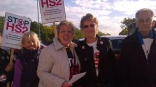 Stop HS2 protesters in Ealing
