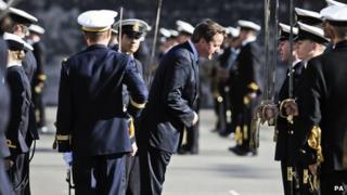 Prime Minister David Cameron at Britannia Royal Naval College, Dartmouth, October 2012