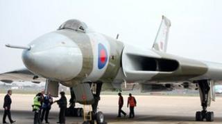 Vulcan Bomber XH558 at Robin Hood Airport