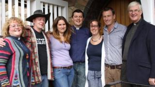 Ordinands and staff from St Michael's College, Cardiff