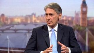 Cabinet minister Philip Hammond on The Andrew Marr Show