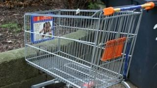 Abandoned supermarket trolley