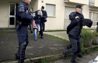 French police arrest suspects in Mulhouse, 16 October