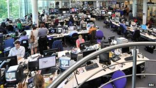 BBC newsroom at Television Centre