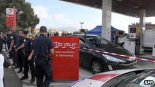 The Corsican petrol station where Antoine Sollacaro was shot dead (16 Oct 2012)