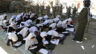 Girls at school in Kabul, Afghanistan