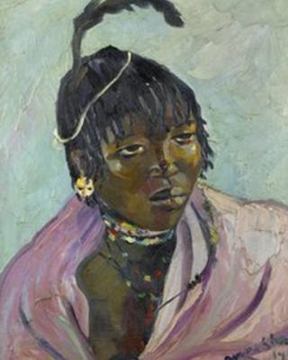 Irma Stern painting, Portrait of a young Mpondo