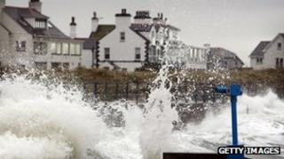Stormy seas in Wales (file photo)