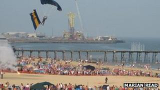 Lowestoft south beach during Air Festival