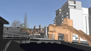 Proposed bridge