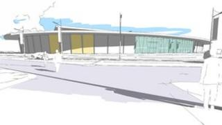 Artists impression of the new National Badminton Centre