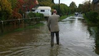 Floodwater in Wendlebury