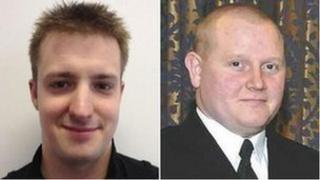 PC Daniel Hermann and PC Stephen Caulfield