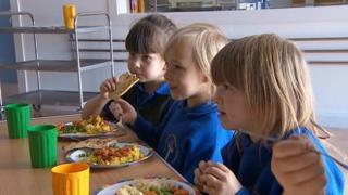 Children from St Martin's Primary, Cranbrook
