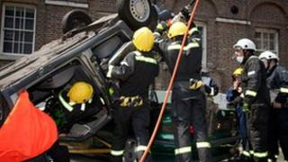 London Fire Brigade crew