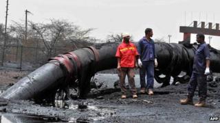 Damaged oil pipes (April 2012)