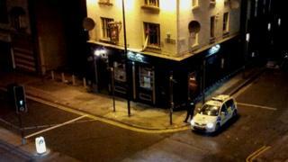 Pub and police cordon